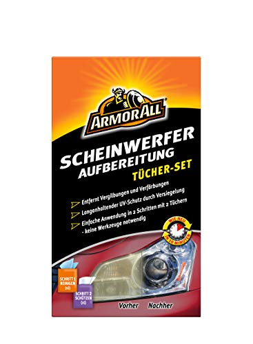 Armor All Scheinwerfer Aufbereitung Tücher Set 18514GE Restauration Versiegelung