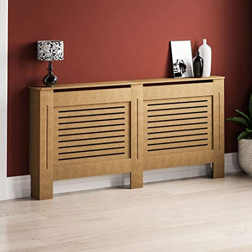 ADHW Oxford Radiator Cover Traditional Unfinished Large MDF Cabinet Unpainted
