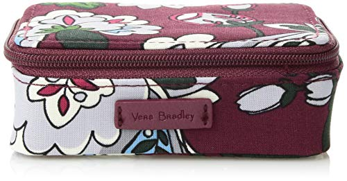 Vera Bradley Womens Iconic Travel Pill Case, Signature Cotton, bordeaux blooms,One Size