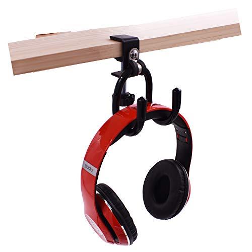 YYST Clamp-On Headphone Holder Desk Side Headphone Hanger to Reduce Desk Clutter (4 lb. Capacity)- No Headphone (1)