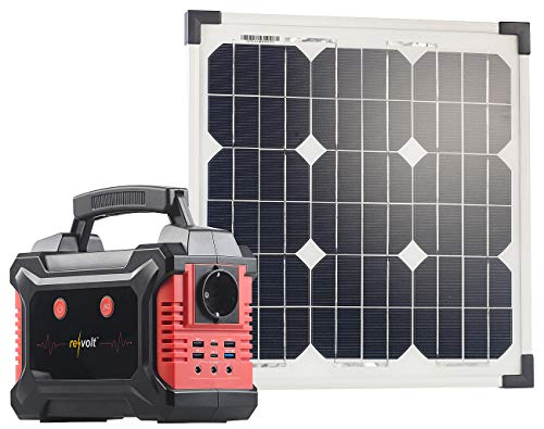 revolt Solar-Power-Bank: Powerbank & Solar-Konverter mit mobilem 20-Watt-Solarpanel, 60 Ah (Solar-Stromaggregate)