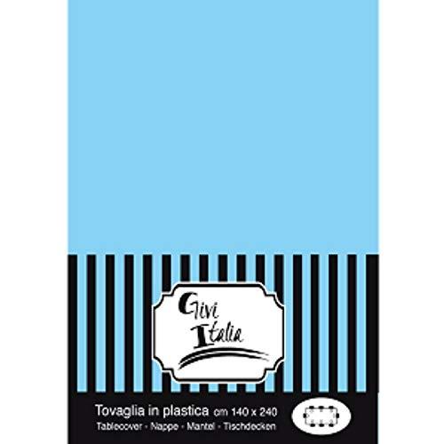 Givi Italia 62190 Tafelkleed PVC cm.140X240 Lichtblauw, Mulit kleur, 140 x 240 cm