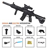 Anstoy Electric with Gel Ball Blaster AEG for Outdoor Activities-Fighting Shooting Team Game (Black)