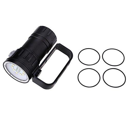 Ueohitsct 3.7V 12000Lm LED fotografía buceo 80 m linterna antorcha con soporte soporte