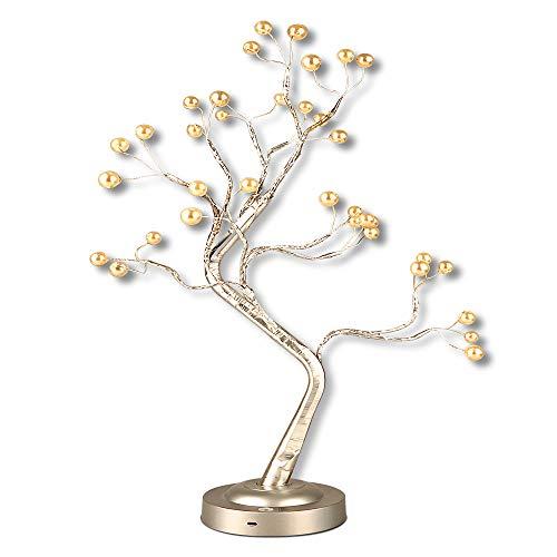 LED Lampe Zweig, 24 LED Baum Licht, Bonsai Baum Lichter, Led Bonsai Tree Light Tischlampe Verstellbare Äste DIY Dekoration USB & Batterie Betrieben, Einstellbare Weihnachtsbaum Lichter für Hochzeit