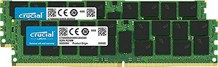 Crucial 32GB Kit (16GBx2) DDR4-2133 MT/S (PC4-2133) CL15 dual ranked x4based ECC Registered Server Memory CT2K16G4RFD4213