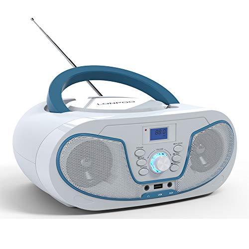 DAB Lettore CD Portatile Boombox (DAB+ FM,Bluetooth.MP3.USB,AUX)