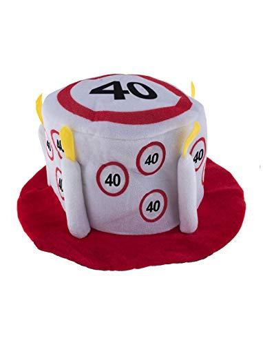 TrendClub100® Geburtstag Party Traffic Hut - Verkehrsschild Nr. 40