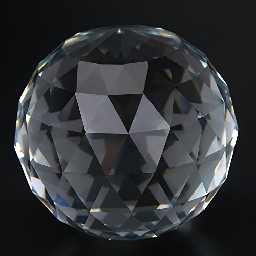 Helder geslepen kristallen glazen bal, 60/80mm doorschijnend facet Gazing bal, kristallen bol Prisms Suncatcher Home Hotel Decor Hardware Fittings