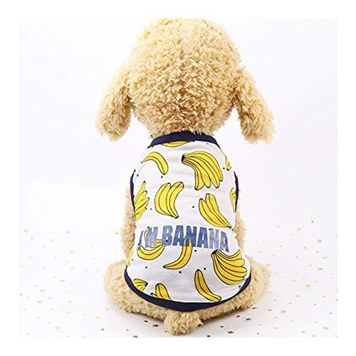 DDSP Las Parejas de Mascotas Ropa for Perros Playa del Vestido del Verano del Perro for Perros pequeños Ropa Transpirable Vestido de la Fruta de la Falda del Chaleco del Animal doméstico Cotton