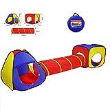 Los Niños Pop 3-En-1 De Los Niños Juegan Tienda Casa con Túnel Y Los Niños Bola Pit Tiendas De Campaña para Niños, Niñas, Juegos De Bebés,Multi Colored