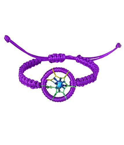 Friendship Dreamcatcher Handmand Weave Bracelets Gift for Girls (Purple)