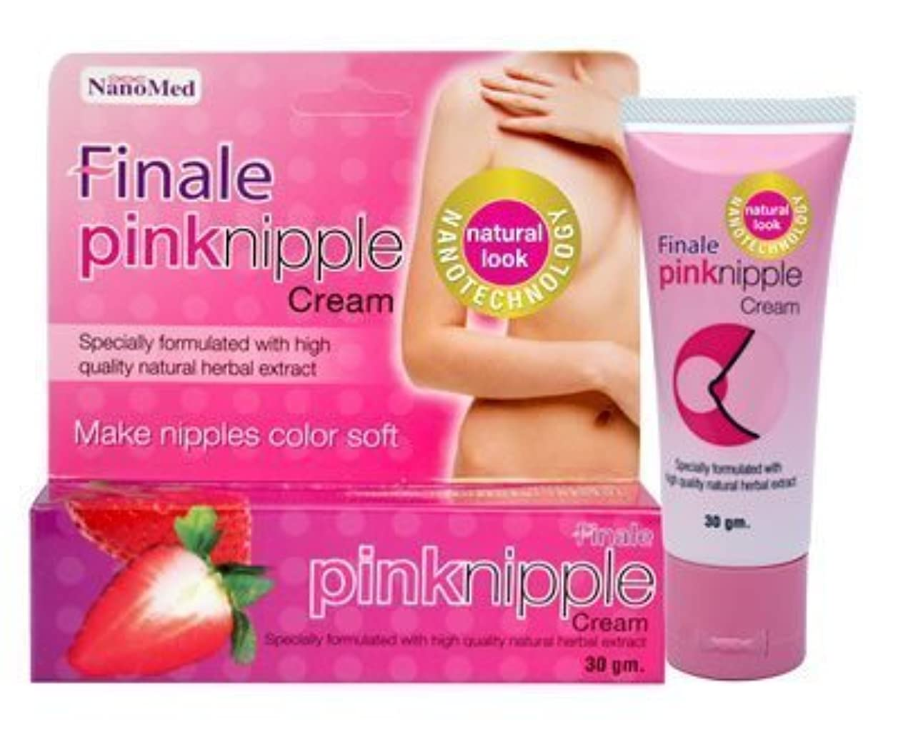 マングルありふれた雰囲気Finale Pink Nipple Cream Natural Soft Within 4 Weeks 30g by Finale