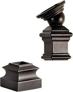 LI-PROLVL Satin Black IronPro Level Kit Iron Baluster Fastener