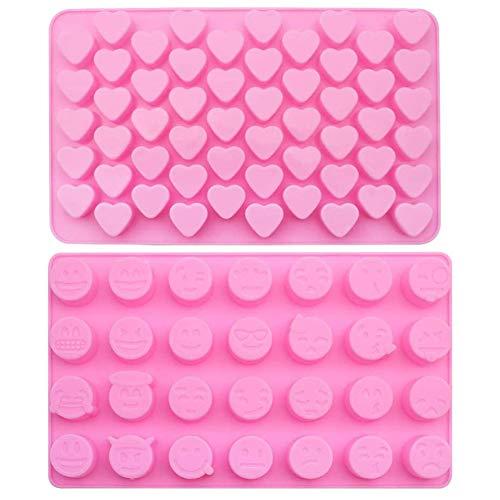 BESLIME Stampo per Dolci in Silicone a Forma di Cuore Stampo per Dolci Stampo Fatto a Mano Fai-da-Te Stampo per Caramelle al Cioccolato Stampo per Gelatina