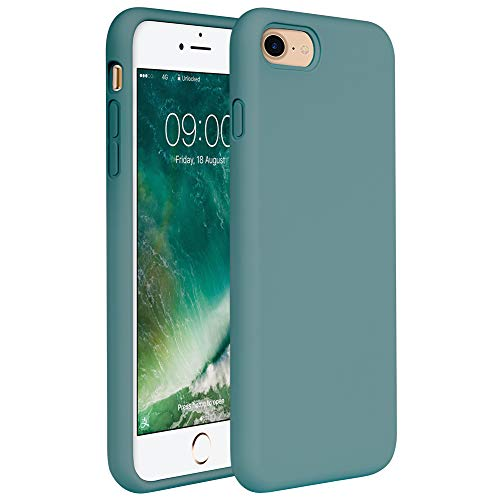 iPhone SE Case(2020),iPhone 8 case,iPhone 7 Silicone Case Miracase Gel Rubber Full Body Protection Shockproof Cover Case Drop Protection for Apple iPhone 8/ iPhone 7(4.7') (Midnight Green