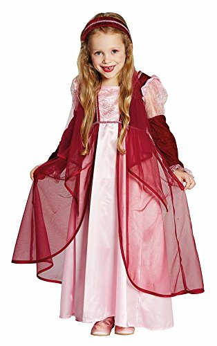 Kostüm Prinzessin Ela Kleid Größe 140 weinrot Märchen Mittelalter Burgfest Burgdame (140)