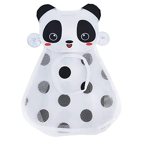 HAOX Organizador de Juguetes de baño, Bolsa de Almacenamiento de Juguetes de bañera Impermeable con Forma de Panda Linda con ventosas para Juguetes de baño para Juguetes de Piscina