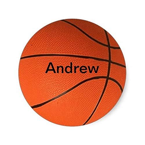 3,8 cm Personalizados con tu Nombre Pegatinas de Baloncesto
