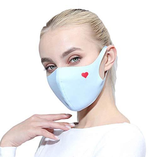 Zolimx Anti Verschmutzung Pollen Staub Mehrweg Mundschutz für Radfahren Reiten Staubdicht Outdoor Frauen Waschbar Wiederverwendbare Schutz Drucken Gesichtsschut (C)