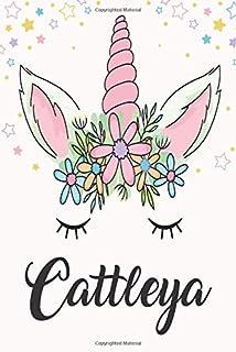 cattleya: Unicorn Notebook For Girls, Personalized Unicorn Gifts For Girls , Notebook with Personalized Name, Perfect Gift...