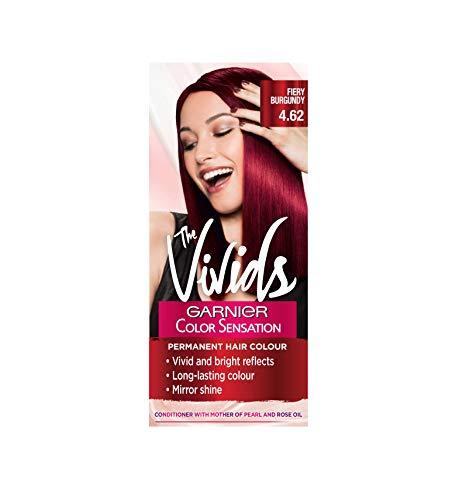 Garnier Color Sensation Vivids Red Hair Dye Permanent 4.62 Fiery Burgundy