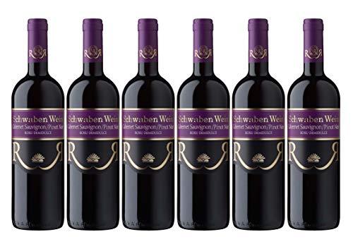 Cramele Recas | SCHWABEN WEIN Cabernet Sauvignon & Pinot Noir – Rotwein lieblich aus Rumänien | Weinpaket 6 x 0,75 L + 1 Kugelschreiber