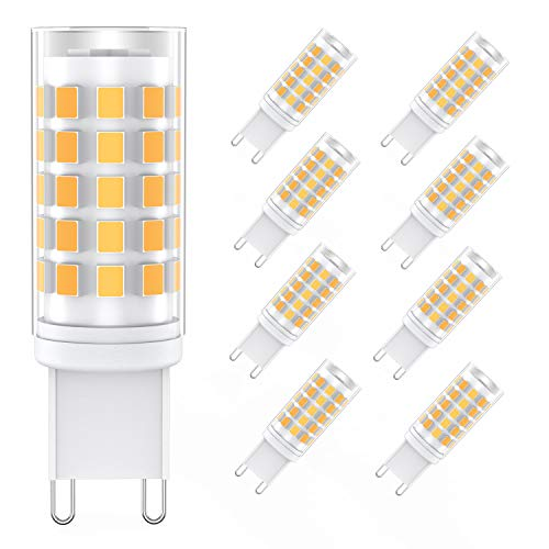 G9 Lampadina LED 6W (8 Pezzi), 54-LED SMD 2835 Lampade LED G9, 400LM Equivalente 80W Lampada Alogena, Angolo a fascio 360 °Non Dimmerabile, Bianco Caldo 3000K [Classe di efficienza energetica A++] … …