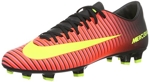 Nike Men's Mercurial Victory IV FG Soccer Cleat Crimson/Volt/Black Size 7 M US