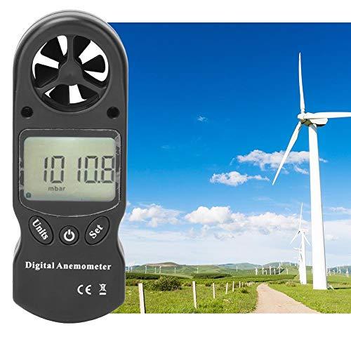 Oumefar Medidor de Flujo de Aire Herramienta de medición de Volumen de Aire de múltiples Funciones Medidor de Velocidad del Viento Anemómetro Termómetro para Exterior Interior para enfriamient