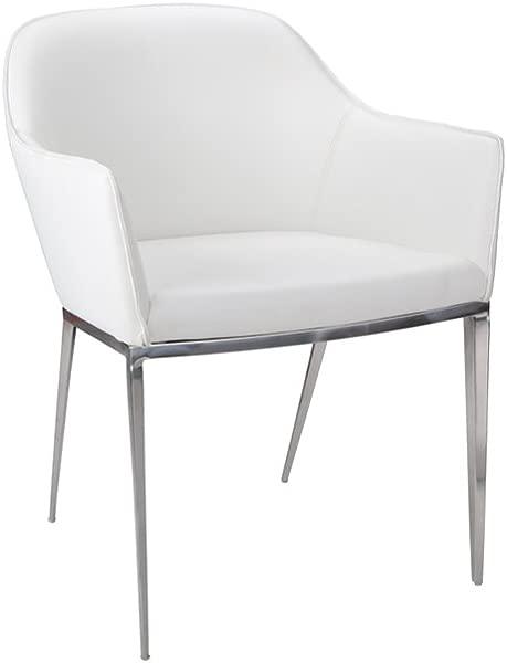 Sunpan 13026 Ikon Dining Chairs 21 X 23 White