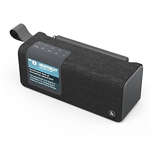 Hama DAB Radio Digitalradio mit Bluetooth und Akku DR200BT (Tragbares Bluetooth Box, mobiles Radio mit DAB/DAB+/FM, Bluetooth, Farbdisplay, aufladbarem Akku, Aux, USB-C, 8h Spielzeit) schwarz