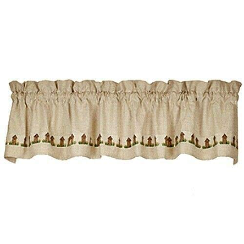 Vintage Supplies for Home Décor New Primitive Country Farmhouse Chic Outhouse Valance Curtains for Home Decor