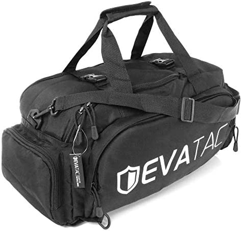 Evatac Hybrid Duffel Bag Large Size 600D Oxford Cloth Duffel Bag Backpack Hybrid with Shoe Compartment product image
