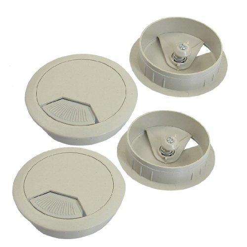 TANOU 5cm diametro pasacables gris claro Cubierta de cable de agujero para escritorio de computadora 4 piezas ++