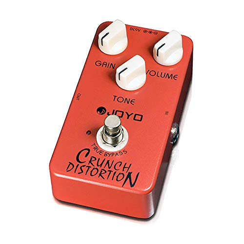JOYO Crunch Distortion Pedal British Classic Rock Distortion for Electric Guitar Effect True Bypass (JF-03)
