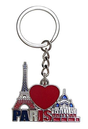 Générique sleutelhanger, zaksieraad, Eiffeltoren en heilig hart, Frankrijk, Parijs van metaal C3