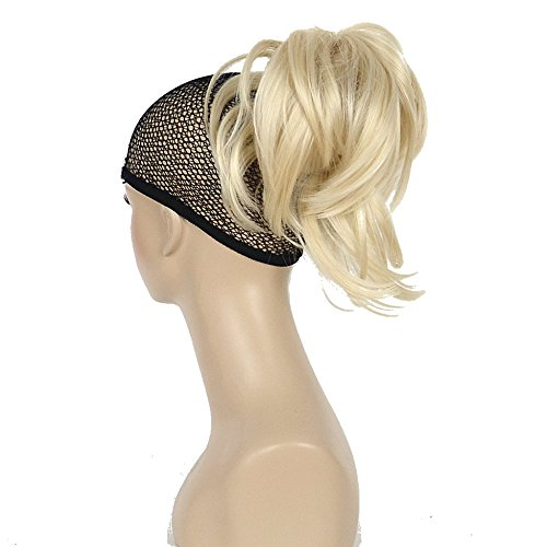 Lydell Adjustable Messy Style Ponytail Hair Extension Synthetic Hairpiece with Jaw Claw Amazing Shape For You (613 Blonde)