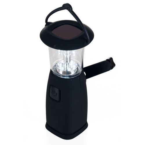 Whetstone 6 LED Solar and Dynamo Powered Camping Lantern, Black