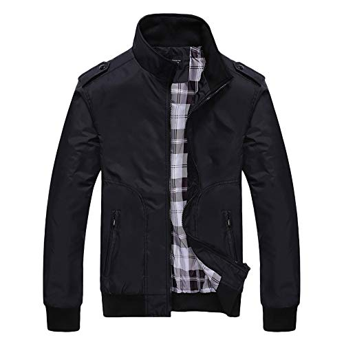 TWBB Herren PU Leder Jacke mit Fleecefutter Slim Fit Vintage Klassisch Blusen Jacket Lederjacke Windbreaker Mit Reißverschluss
