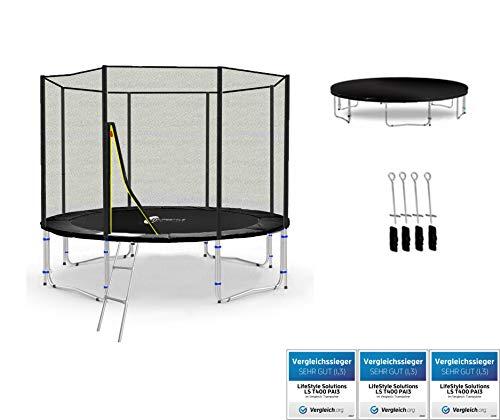 LifeStyle ProAktiv Trampoline LS-T305-PA10 (S) de Jardin - 305 cm - 10ft - Fort Filet de Sécurité - 180kg Capasite - New