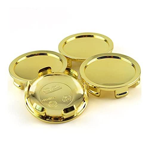 XIUHUA 4pcs 74mm 70mm Gold Compatible con O.Z Racing M608 Cocheras de la Rueda del automóvil Caps Emblem SuperForgiata, Centro de Ruedas Cubierta de HOBCAP