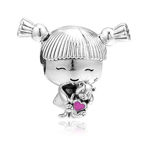 BAKCCI Regalo para el día de la madre 2019 con coletas de plata 925 DIY compatible con pulseras originales Pandora