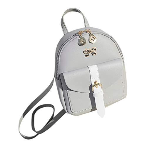 Goddessvan Fashion Lady Shoulders Bag Small Backpack Letter Purse Mobile Phone Versatile Messenger Bag Gray