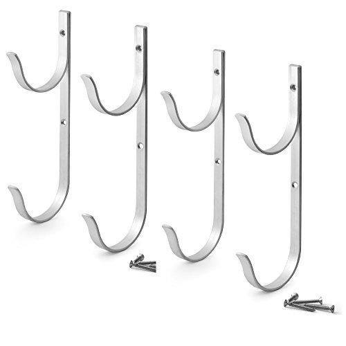 Aquatix Pro Aluminum Pool Accessory Hanger - 4 Pack