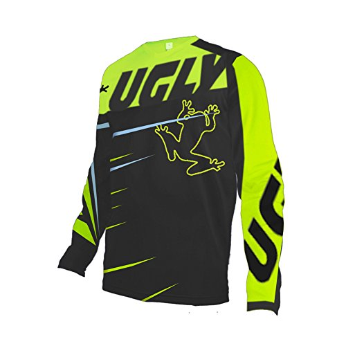 Uglyfrog Mens MTB Jersey Mountain Bike Jerseys Cycling Jerseys Long Sleeve Downhill Road Bike Shirt MTB Tops Moisture-Wicking T-Shirts
