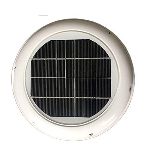 COUYY Ventilador de ventilación con Techo Solar 2.5W Ventilador de 120 mm Utilizado en Baño Cobertizo Protección Familia Caravana Barco Invernadero
