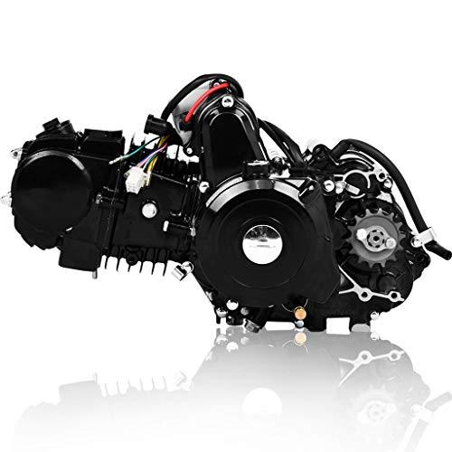 Ama-store 125cc 4 stroke ATV Engine Motor Semi Automatic With Reverse Electric Start US Stock(Black)