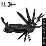 FANTASTICAR 15 in 1 Army Multi-Tool, Key Chain, Folding Pocket Knife With Premium Gift Box for...