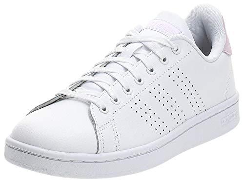 adidas Advantage Sh, Scarpe da Ginnastica Donna, Bianco (Cloud White/Cloud White/Light Granite), 38 2/3 EU